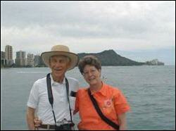 Photograph of Jim and Pat Geary in Hawaii.