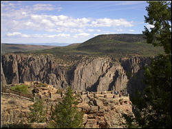 The Black Canyon of the Gunnison is a fairly new National Park and was new to us. It is a strange and awesome sight!