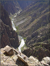 Photograph of Black Canyon of the Gunnison.