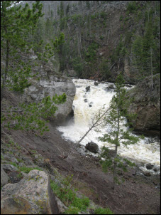 Picture of the Firehole River Falls.