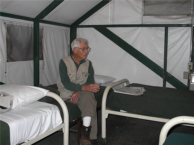 Inside our tent cabin at Yosemite National Park.  sc 1 st  Family Genealogy - Geary Jewell Tucker and Little Family Genealogy & Yosemite National Park - Fall 2002
